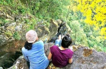 Barkana Waterfalls plunge into valley