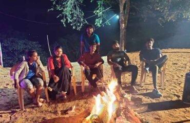 Bonfire-at-Campsite