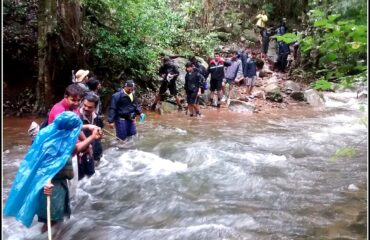 Stream Crossing during peak Monsoons