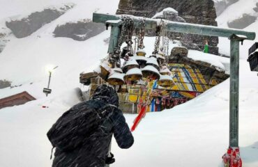 Tungnath temple after heavy snowfall